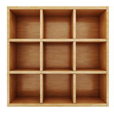 3d wooden shelf Stock Image