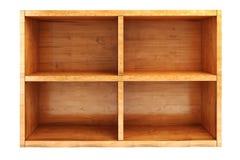 3d wooden shelf Royalty Free Stock Photo