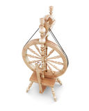 3d wooden spinning wheel. Royalty Free Stock Images
