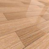 3d Wooden tiled floor Stock Photo