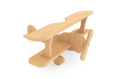 3d Wooden toy airoplane Stock Image