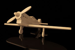 3d Wooden toy airplane Stock Photography