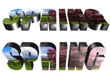 3D woord - de lente Stock Fotografie