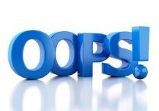 3d woord oops Stock Afbeelding
