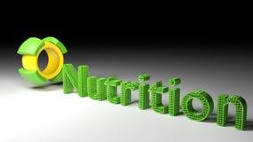 3D woordvoeding komt een roterende kubus naar voren royalty-vrije illustratie