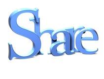 3D Word Aandeel op witte achtergrond Royalty-vrije Stock Fotografie