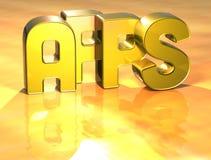 3D Word Apps op gouden achtergrond Stock Afbeelding