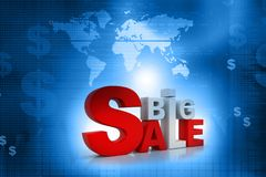 3d word of Big sale. On abstract business background Stock Photography