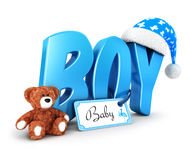 3d word boy concept. White background, 3d image Royalty Free Stock Photo