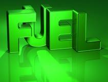 3D Word Brandstof op groene achtergrond Vector Illustratie