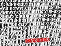 3D Word Carrer à l'intérieur de différents blocs de lettres Photographie stock libre de droits