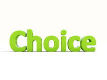 3d word choice Stock Images