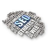 3D word cloud - search engine optimization concept Stock Images