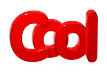 3D Word Cool over white background. 3D Word Cool over white background Royalty Free Stock Image