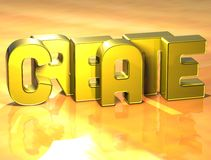 3D Word Create on yellow background Stock Photography