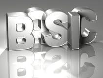 3D Word de base sur le fond argenté Images stock