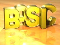 3D Word de base sur le fond jaune Photos stock