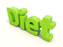 3d word diet Royalty Free Stock Photo