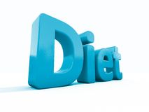 3d word diet Royalty Free Stock Image