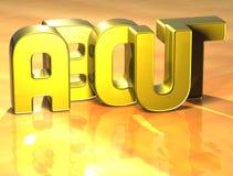 3D Word environ sur le fond jaune Images stock