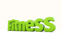 3d word fitness. Word fitness icon on a white background. 3D illustration Royalty Free Stock Images
