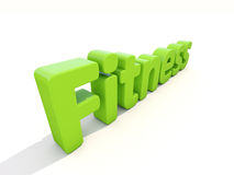 3d word fitness. Word fitness icon on a white background. 3D illustration Stock Photo