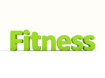 3d word fitness Stock Photo