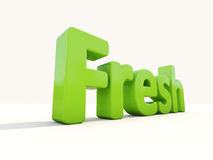 3d word fresh Stock Photography