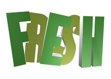 3D word - Fresh. Solid 3d fresh word in green Stock Photos