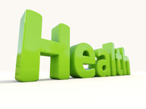 3d word health. Word health icon on a white background. 3D illustration Stock Images