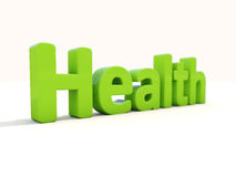 3d word health Stock Photography