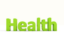3d word health. Word health icon on a white background. 3D illustration Stock Photography