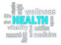 3d The word Health of words Royalty Free Stock Photos