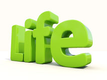 3d word life Royalty Free Stock Photography