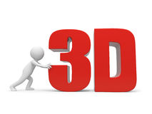 3D word Royalty Free Stock Photo