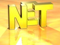 3D Word Netto op gele achtergrond Stock Afbeeldingen