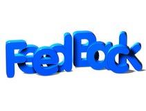 3D Word rétroagissent sur le fond blanc Images libres de droits