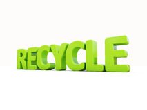 3d word recycle Stock Photography