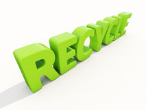 3d word recycle Stock Images