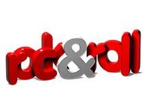3D Word Rots - en - broodje op witte achtergrond Stock Illustratie