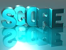 3D Word Score on blue background Royalty Free Stock Image