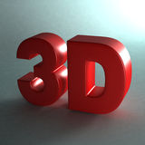 3D word in shinny red. Stock Image