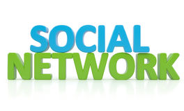 3d word SOCIAL NETWORK Royalty Free Stock Images