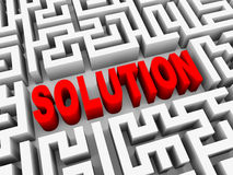 3d word solution in puzzle maze Stock Images