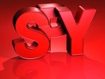 3D Word Spion op rode achtergrond Royalty-vrije Stock Afbeeldingen