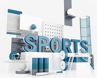 3d Word sportenconcept vector illustratie