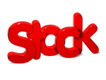 3D Word Stock over white background. 3D Word Stock over white background Stock Photography