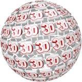 3D Word sur l'effet tridimensionnel de sphère de boule Photo stock