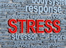 3d word tags of stress. 3d Illustration of wordcloud word tags of stress Royalty Free Stock Images
