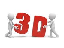 3D word Royalty Free Stock Photos